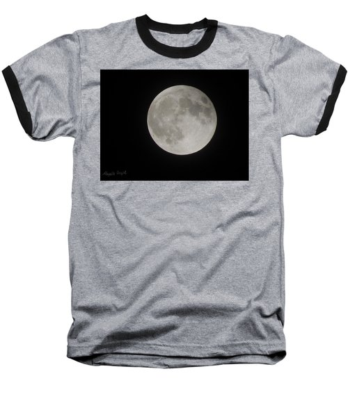 Two-tone Gray Moon Baseball T-Shirt