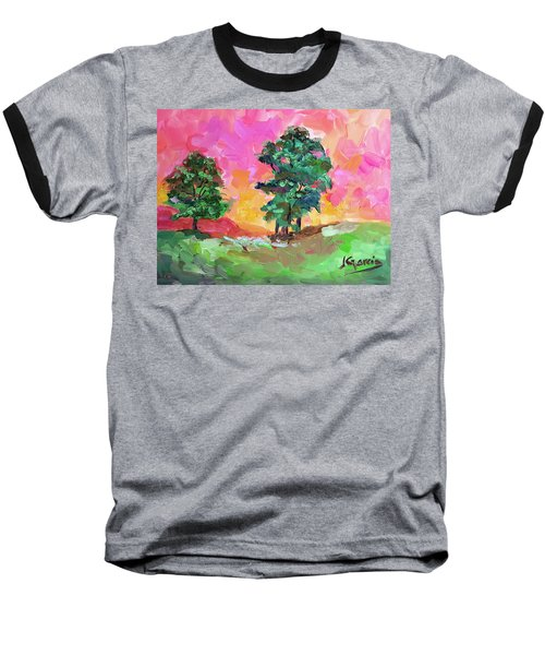 Two Trees Baseball T-Shirt by Janet Garcia