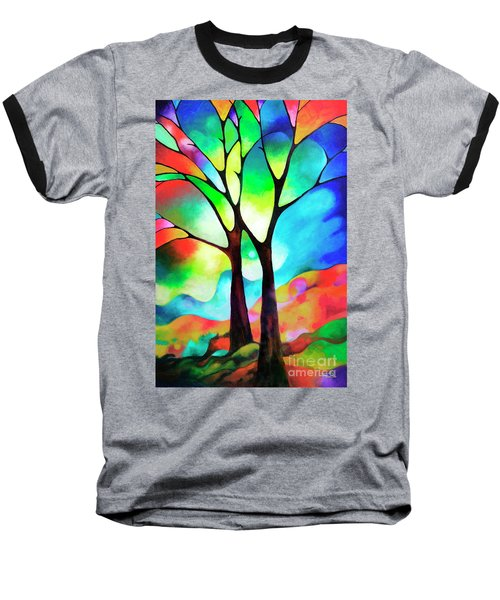 Two Trees Baseball T-Shirt by Sally Trace