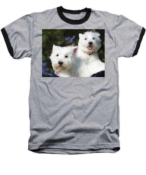 Two Westies Baseball T-Shirt