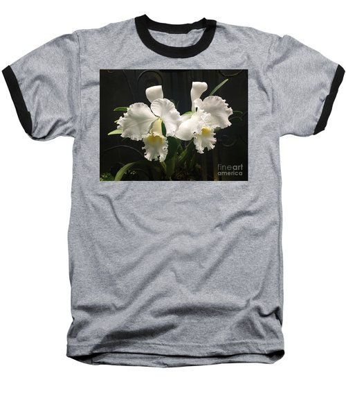 Two White Orchids Baseball T-Shirt
