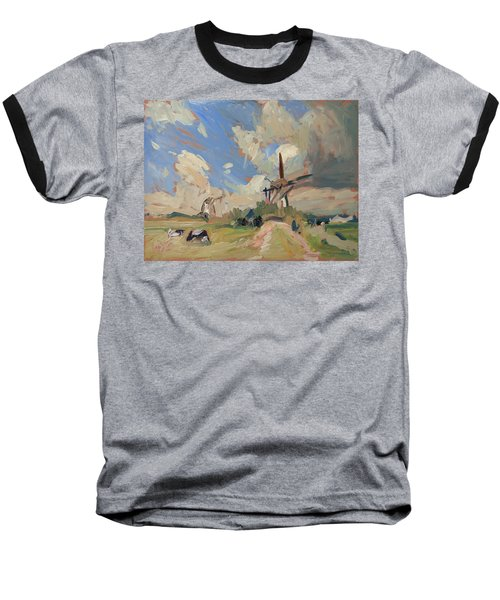 Two Windmills Baseball T-Shirt by Nop Briex