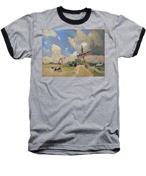 Two Windmills Baseball T-Shirt