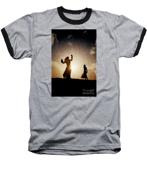 Two Women Dancing At Sunset Baseball T-Shirt