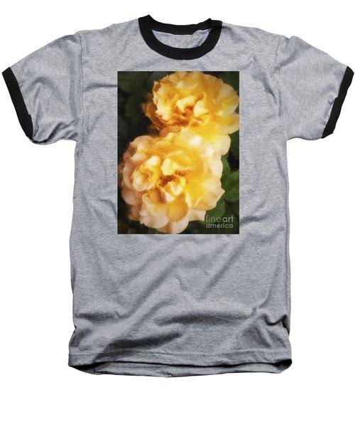 Two Yellow Roses  ... Baseball T-Shirt by Chuck Caramella