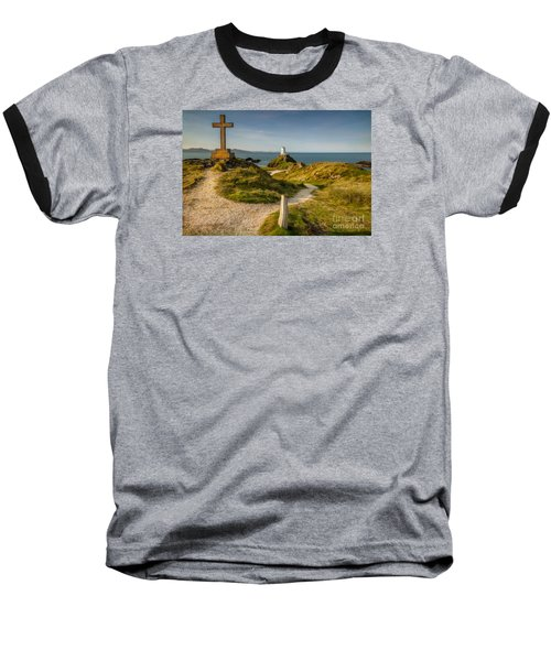 Twr Mawr Lighthouse Baseball T-Shirt