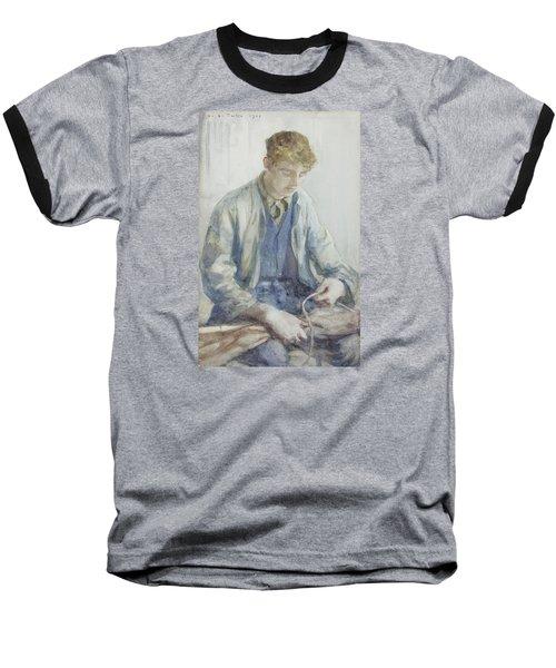 Tying The Sail Baseball T-Shirt by Henry Scott Tuke