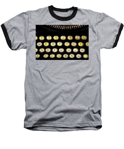 Baseball T-Shirt featuring the photograph Typewriter by Christopher Woods