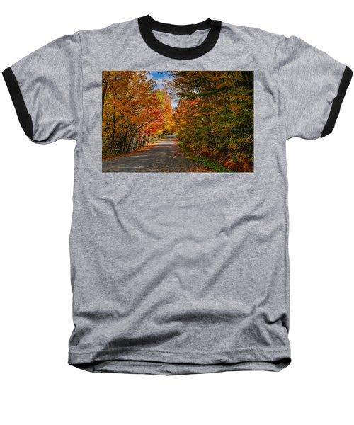 Typical Vermont Dirve - Fall Foliage Baseball T-Shirt