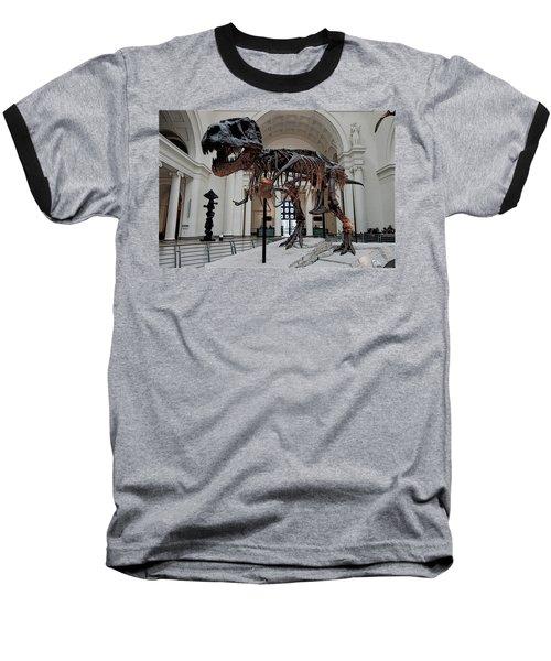 Baseball T-Shirt featuring the digital art Tyrannosaurus Rex Sue - Chicago by Daniel Hagerman