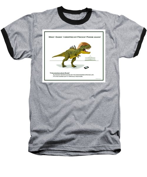 Tyrannosaurus Rump Baseball T-Shirt