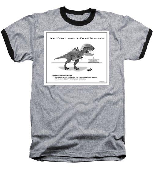 Tyrannosaurus Rump Bw Baseball T-Shirt