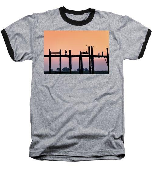 U-bein Bridge At Dawn Baseball T-Shirt