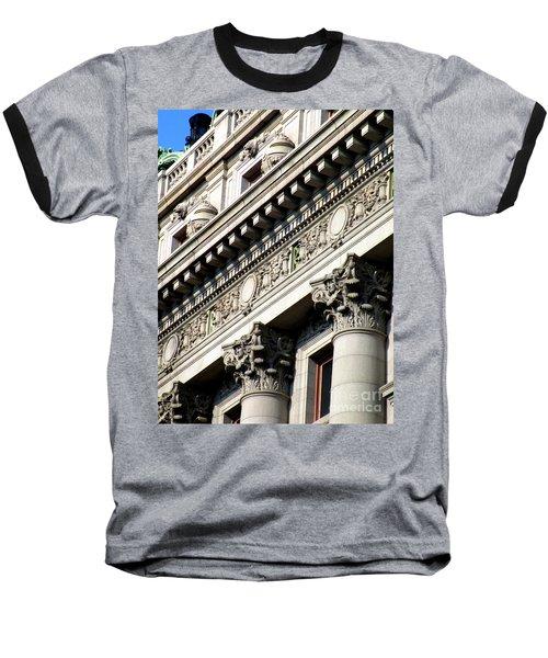 U S Custom House 2 Baseball T-Shirt by Randall Weidner