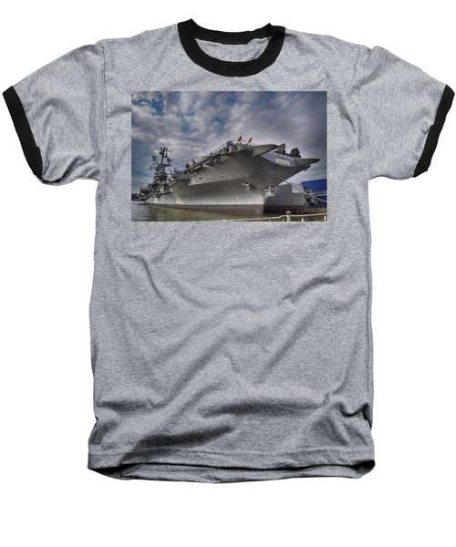 U S S  Intrepid     Baseball T-Shirt by Dyle Warren