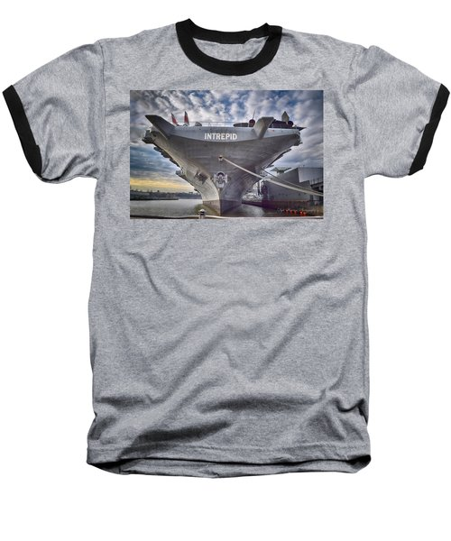 U S S   Intrepid's Bow  Baseball T-Shirt