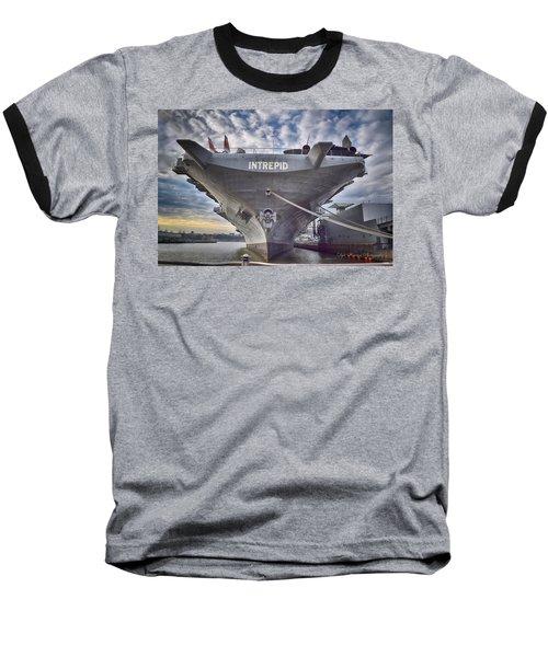 U S S   Intrepid's Bow  Baseball T-Shirt