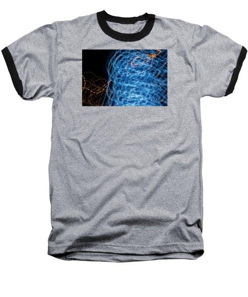Ufa Neon Abstract Light Painting Sodium #7 Baseball T-Shirt by John Williams