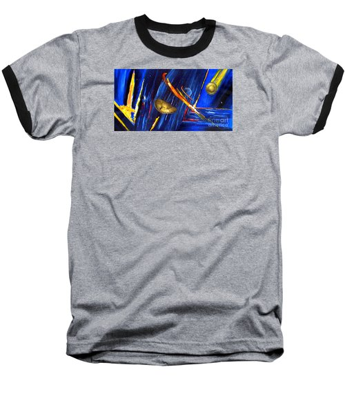 Baseball T-Shirt featuring the painting UFO by Arturas Slapsys