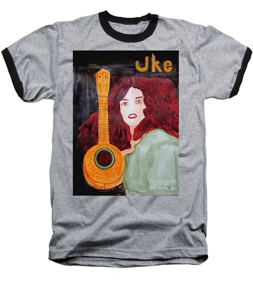 Uke Baseball T-Shirt by Sandy McIntire