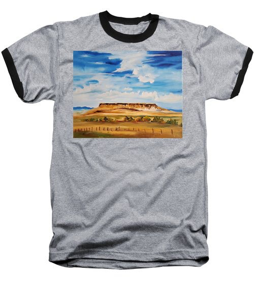 Ulm Montana First People's Buffalo Jump   93 Baseball T-Shirt