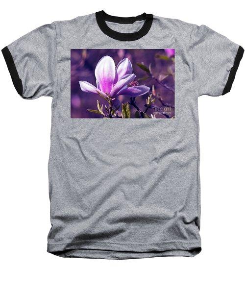 Ultra Violet Magnolia  Baseball T-Shirt