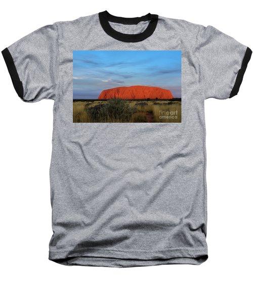 Baseball T-Shirt featuring the photograph Uluru Sunset 03 by Werner Padarin
