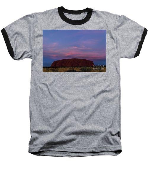 Baseball T-Shirt featuring the photograph Uluru Sunset 04 by Werner Padarin