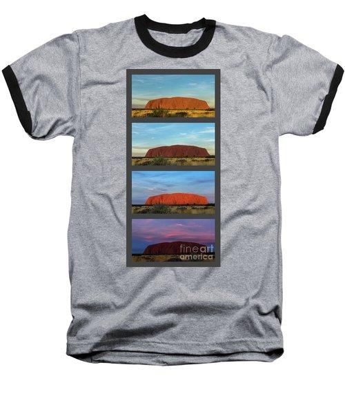 Baseball T-Shirt featuring the photograph Uluru Sunset by Werner Padarin