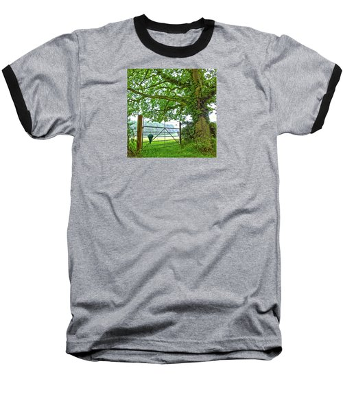 Baseball T-Shirt featuring the photograph Umbrella At The Ready by Anne Kotan