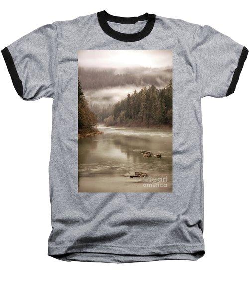 Umpqua River Fog Baseball T-Shirt