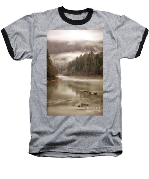 Umpqua River Fog Baseball T-Shirt