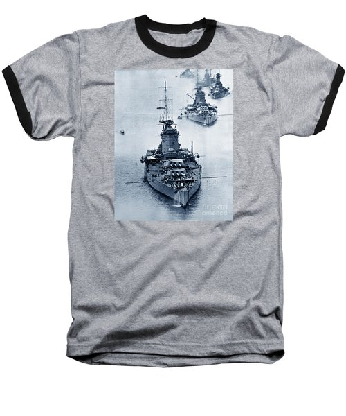 Hms Nelson And Hms Rodney Battleships And Battlecruisers Hms Hood Circa 1941 Baseball T-Shirt by California Views Mr Pat Hathaway Archives
