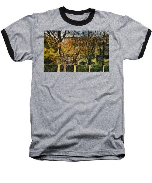 Un Cheteau Dans Le Paradis - Two Of Two  Baseball T-Shirt by Sir Josef - Social Critic -  Maha Art