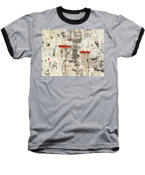 Baseball T-Shirt featuring the painting Un Pour Tous by Carmen Guedez