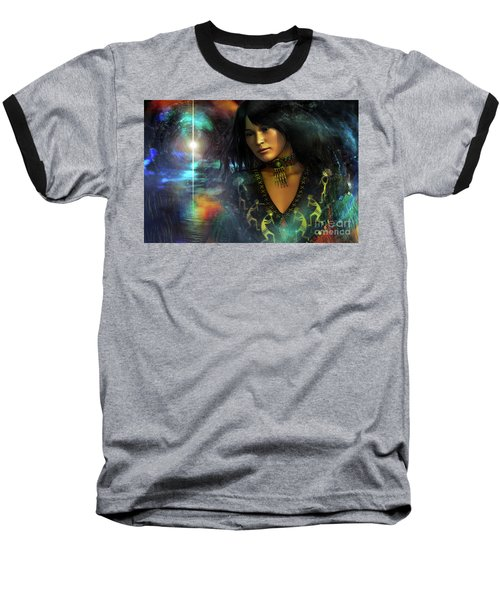 Baseball T-Shirt featuring the digital art Una   ...   Remember by Shadowlea Is