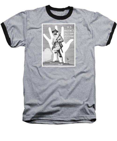 Uncle Sam's Right Hand - Us Marines Baseball T-Shirt