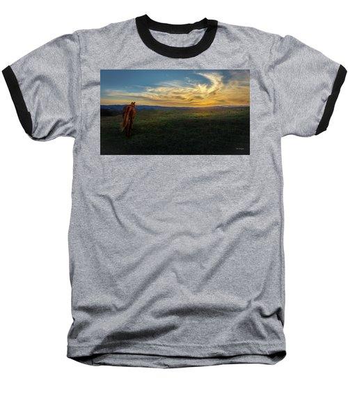 Under A Bright Evening Sky Baseball T-Shirt