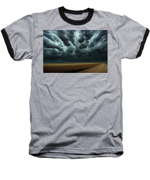 Under A Mammatus Sky Baseball T-Shirt