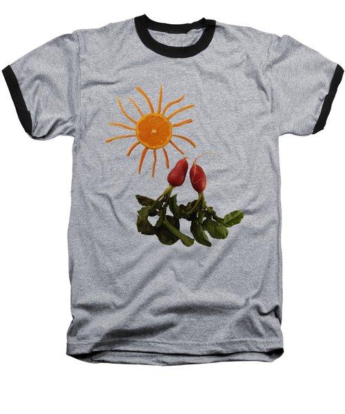 Under A Tangerine Sun - On Blue Baseball T-Shirt