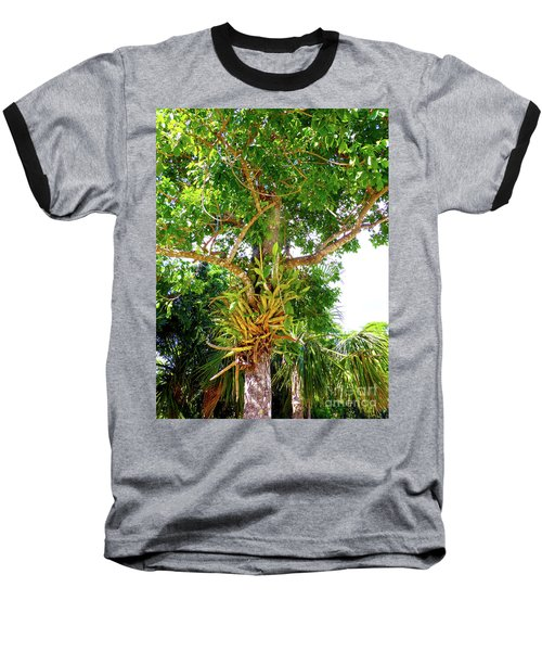 Baseball T-Shirt featuring the photograph Under A Tropical Tree M by Francesca Mackenney