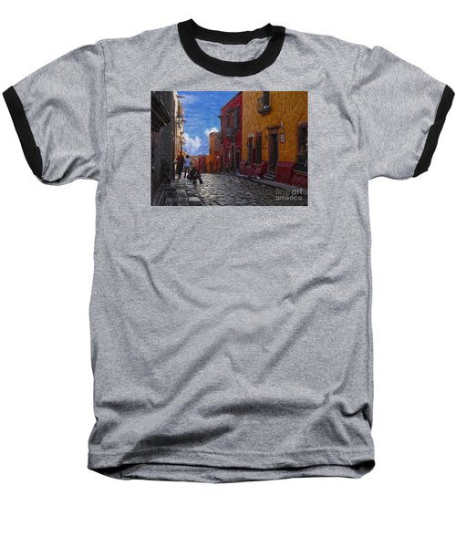 Under A Van Gogh Sky Baseball T-Shirt by John Kolenberg