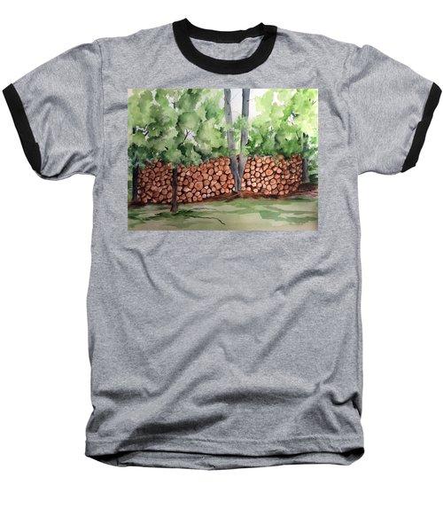 Under Hill Rd. Woodpile Baseball T-Shirt