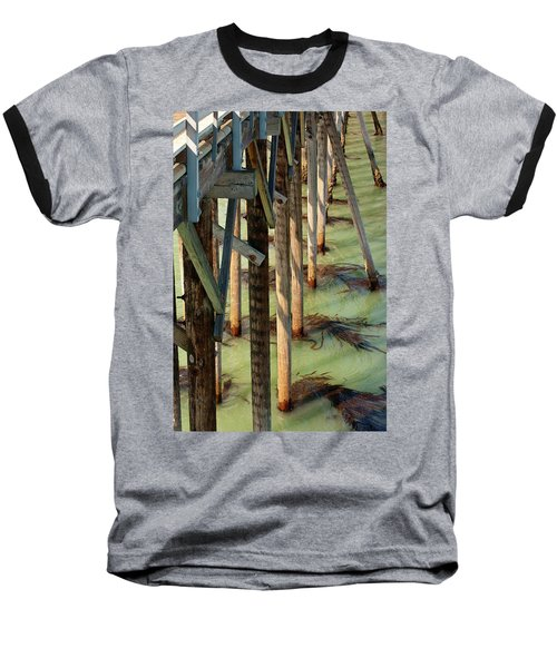 Baseball T-Shirt featuring the photograph Under San Simeon Pier by Art Block Collections