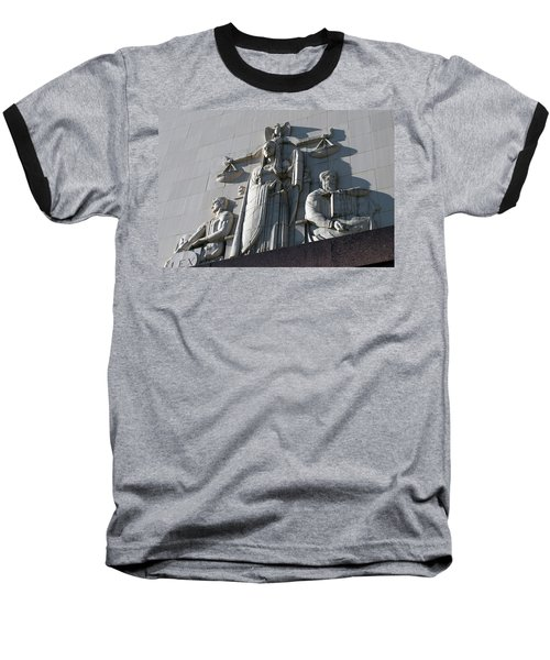 Under Scales Of Justice Baseball T-Shirt