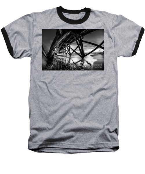 Under Sea Cabin Pier At Sunset Baseball T-Shirt