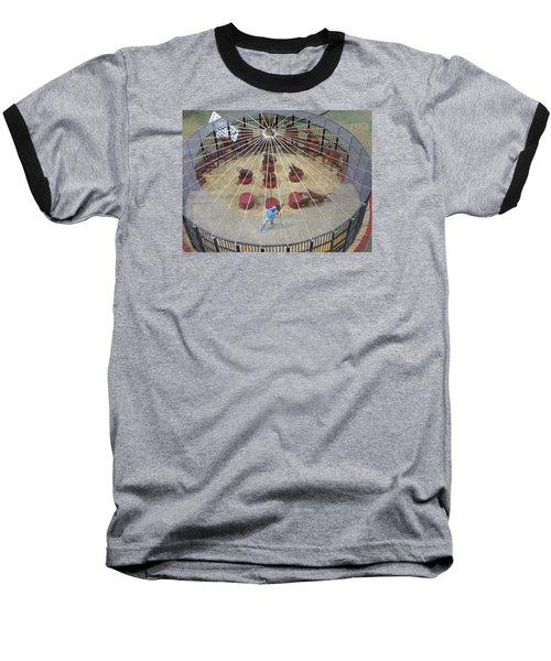 Under The Big Top Baseball T-Shirt by Jewels Blake Hamrick