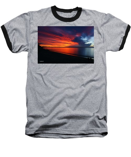 Baseball T-Shirt featuring the photograph Under The Blood Red Sky by Gary Crockett
