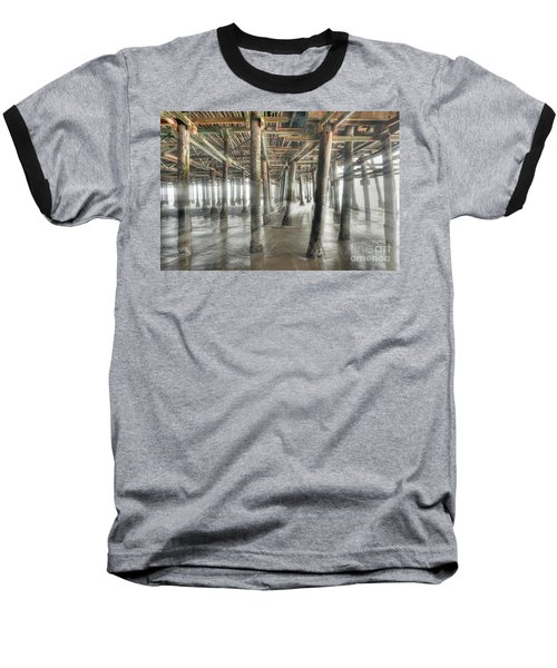 Baseball T-Shirt featuring the photograph Under The Boardwalk Into The Light by David Zanzinger