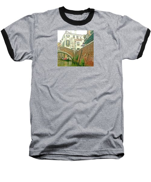 Baseball T-Shirt featuring the photograph Under The Bridge by Anne Kotan